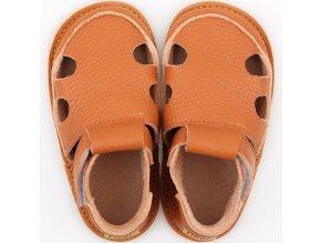 barefoot kids sandals orange 9624 4
