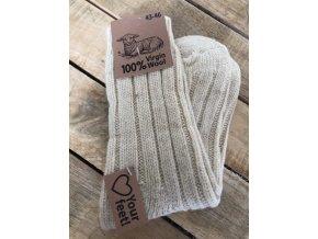 100% Vlnené ponožky - nature