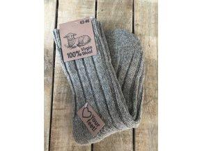 100% Vlnené ponožky - brown
