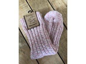 Detské ponožky s prímesou vlny - pink
