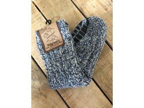 Detské ABS ponožky s prímesou vlny - blue