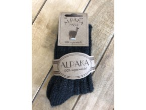 Detské hrubé ponožky Alpaka Natur - antracit