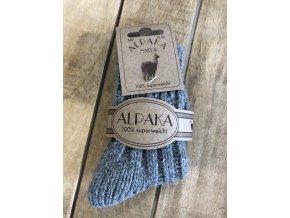 Detské hrubé ponožky Alpaka Natur - gray
