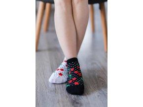 barefoot ponozky kratke ceresne 16603 size large v 1