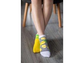 barefoot ponozky kratke citrony 17494 size large v 1