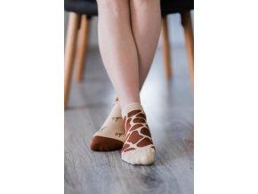 barefoot ponozky kratke zirafa 16555 size large v 1