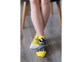 barefoot ponozky kratke zebra 16507 size large v 1