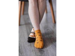 barefoot ponozky kratke kava 16588 size large v 1
