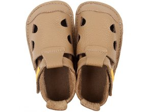 leather barefoot sandals nido cappuccino 18049 4