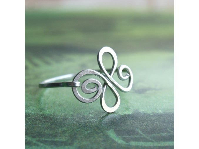prsten smyčkový čtyřlístek I