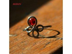 Prsten čtyřlístek červený I ořez
