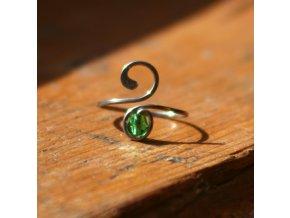 Prsten zelený slzík