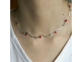 náhrdelník krk stékané
