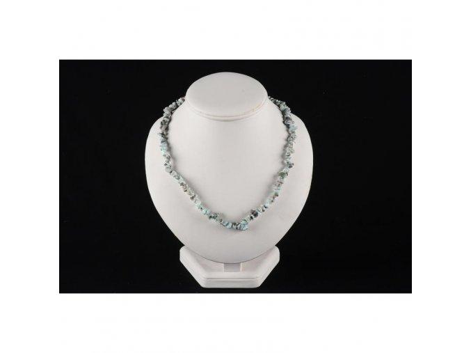 Larimar náhrdelník sekaný