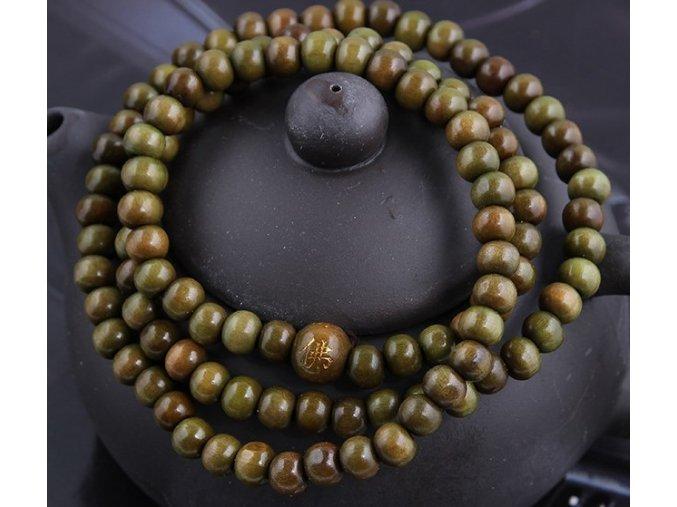 Zelenkavý náramek ze santalového dřeva