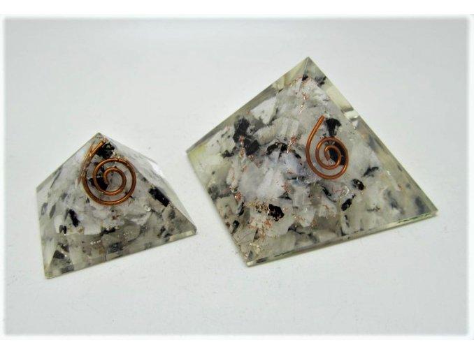 Orgonitová pyramida - Měsíční kámen