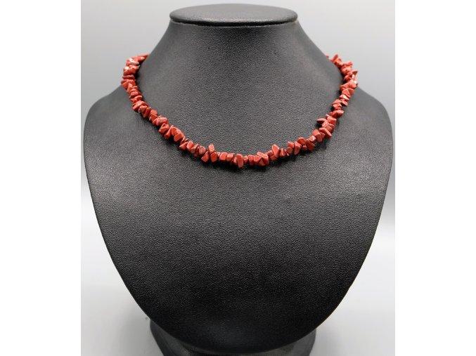 Náhrdelník z červeného jaspisu