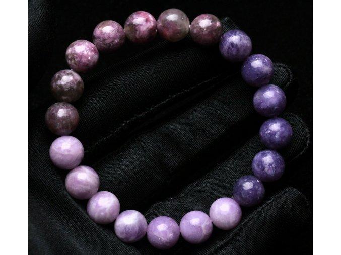 Náramek z fialového turmalínu