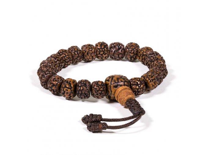 Náramek z rudrakshi - leštěná semena