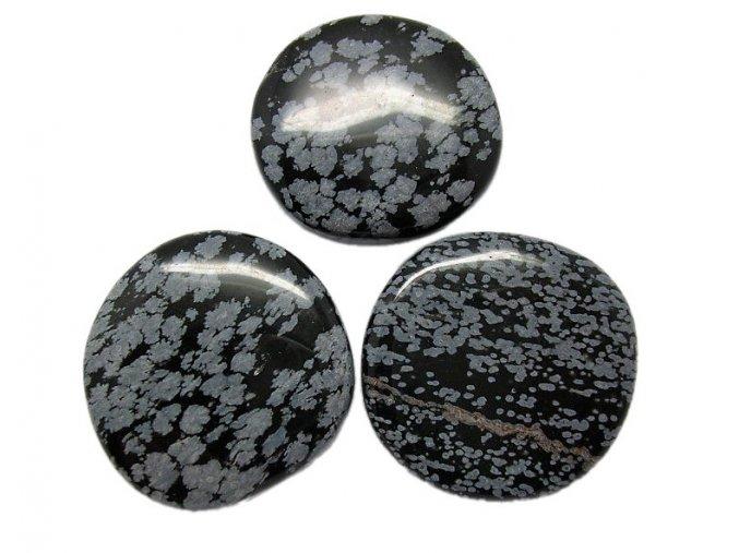 Hmatka - Vločkový obsidián