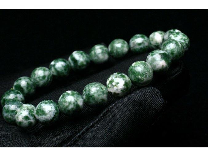 Náramek ze zeleného azuritu v granitu