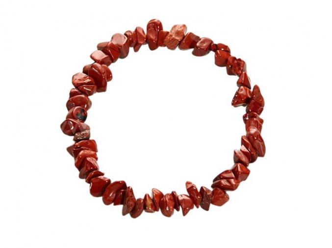 Jaspis červený náramek sekaný