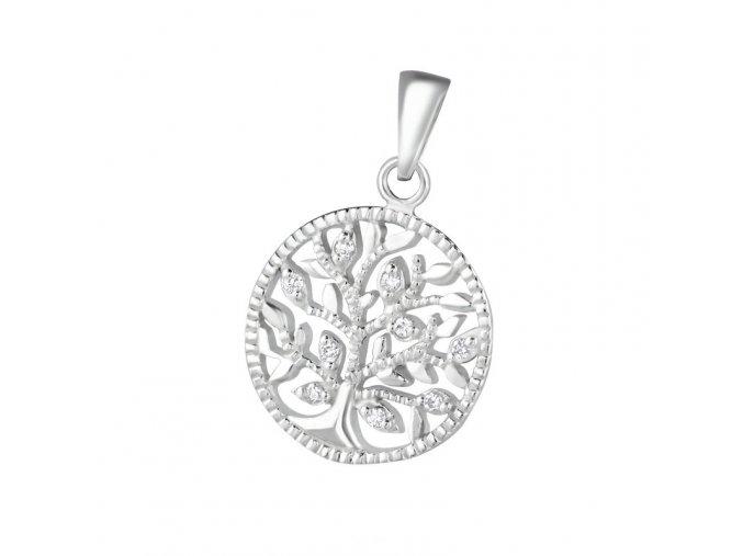 Přívěsek Strom života se zirkony