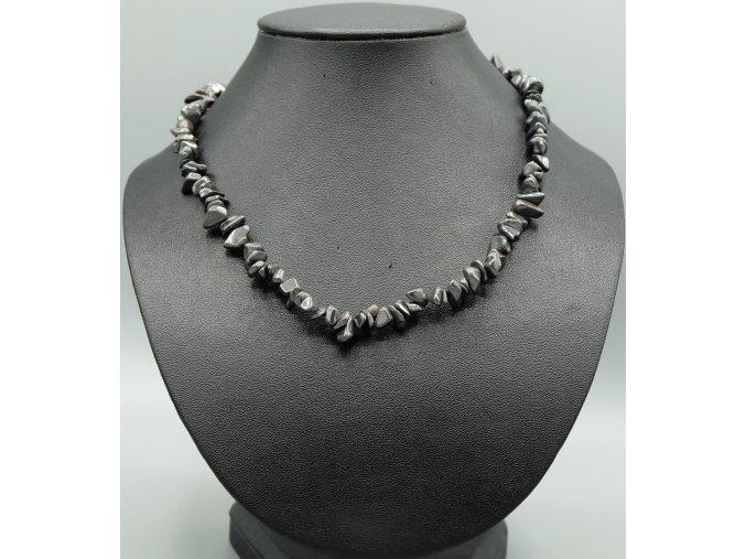 Hematit náhrdelník sekaný