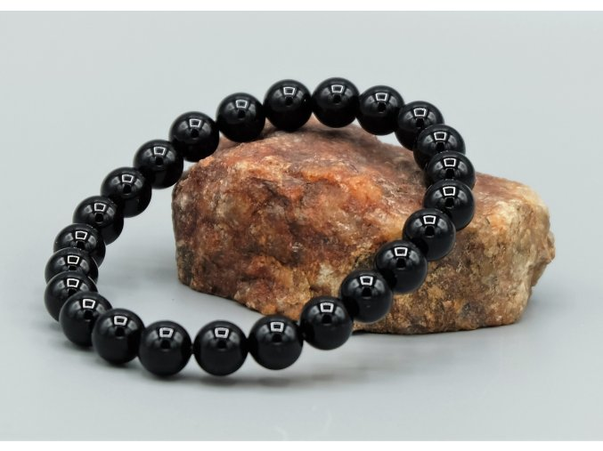 Náramek z obsidiánu 8 mm