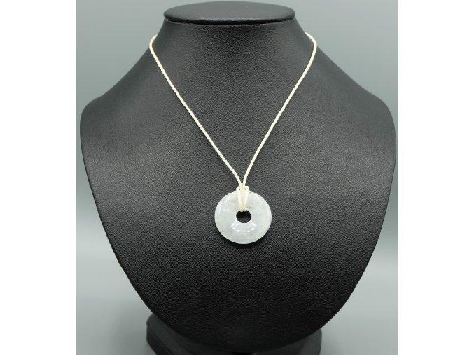 Křišťál donut náhrdelník