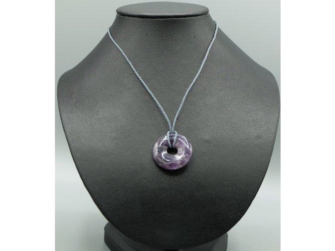 Ametyst donut náhrdelník