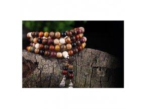 Meditační mala náramek ze santalového dřeva
