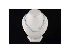Akvamarín náhrdelník sekaný
