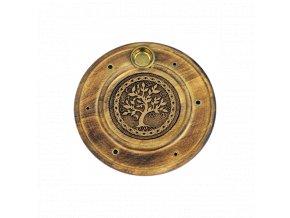 Dřevěný stojan na vonné tyčinky a františky - Strom života