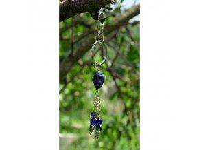 Klíčenka Lebka modrá