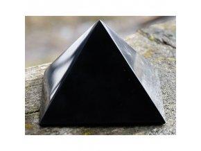 Šungitová pyramida leštěná - 6 x 6 cm
