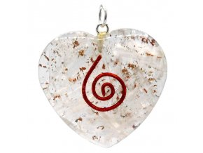 Orgonitové srdce - selenit