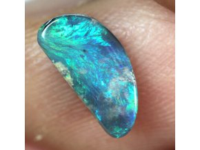 1,08 ct - Semi black opal - 10,55 x 5,08 mm