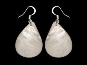 Náušnice z perleti - kapka