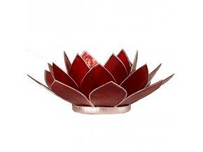 Lotosový svícen - červený