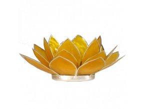 Lotosový svícen - žlutý