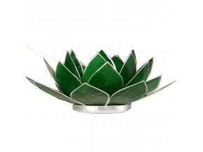 Lotosový svícen - zelený