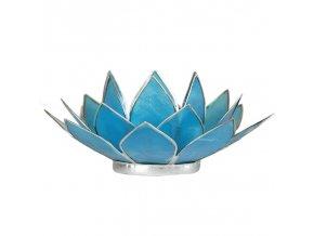 Lotosový svícen - modrý