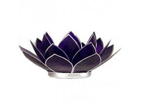 Lotosový svícen - fialový