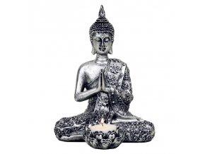 Svícen modlící se Buddha