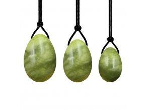Sada yoni vajíček - zelený jadeit