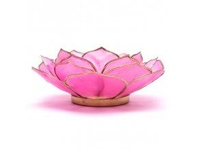 Lotosový svícen - růžový