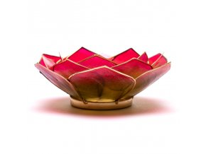 Lotosový svícen - růžovo zelený