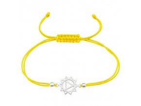 Žlutý šňůrkový náramek - 3.čakra