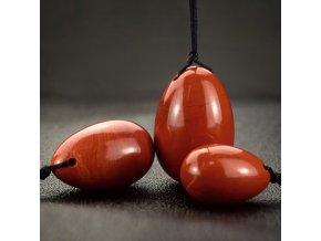 Sada Yoni vajíček - červený jaspis